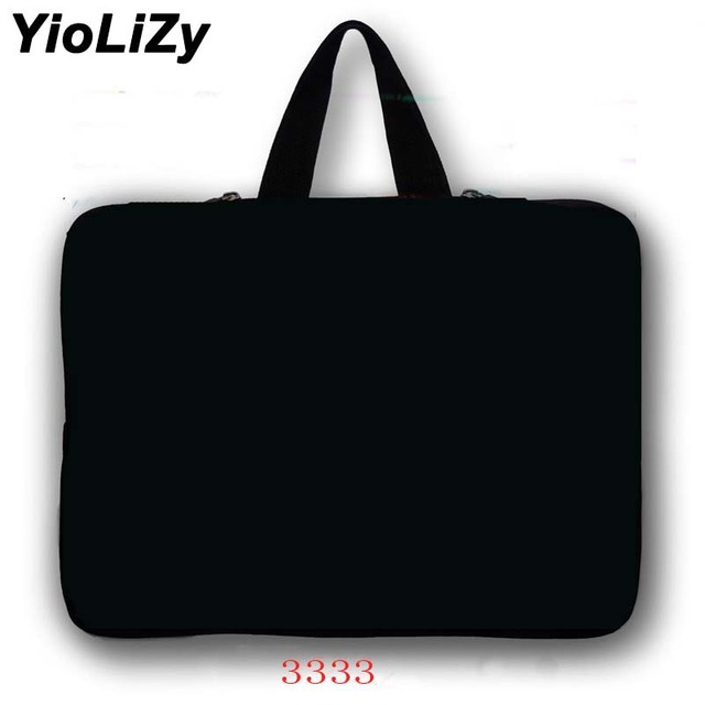 pure black Laptop Bag 7 9.7 12 13.3 14.1 15.6 17.3 tablet bag Notebook sleeve cover For macbook Air pro 15 case retina LB-3333
