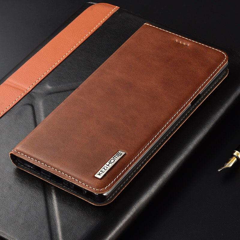 Case For Google Pixel 2 XL Kezihome Luxury Genuine Leather Flip Wallet Cover For Google Pixel 2XL 6.0'' Phone Cases