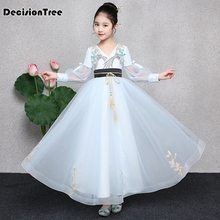 цена на 2019 new halloween costume for kids traditional chinese dance dress ancient costume hanfu for girls kid child dress