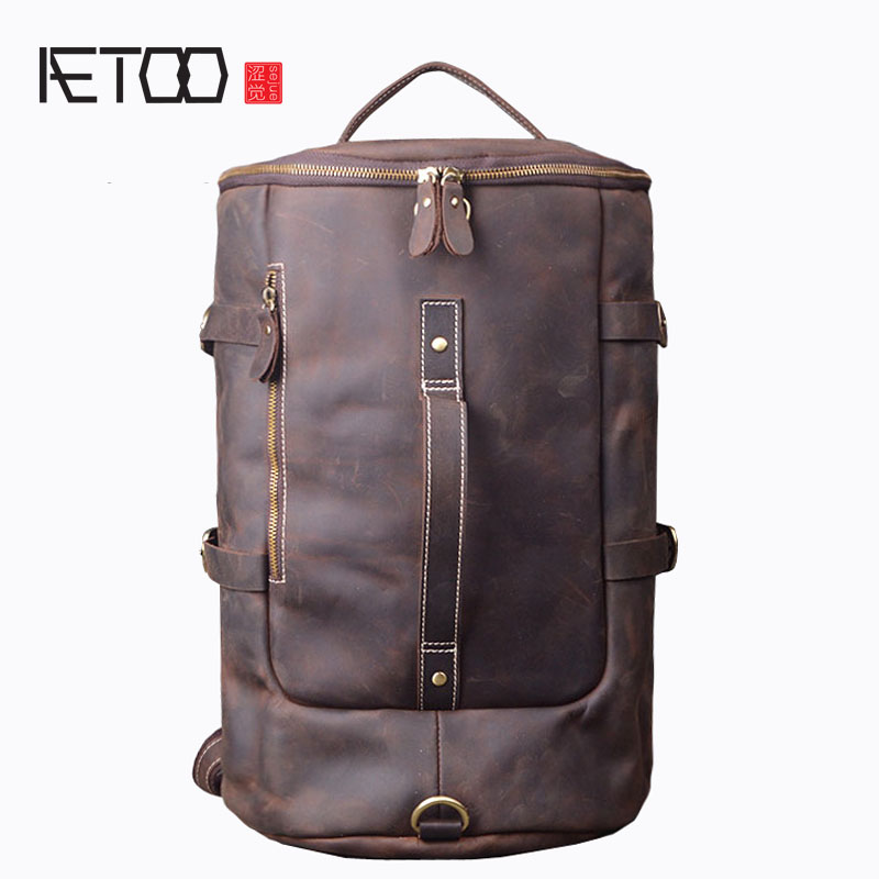 AETOO New crazy horse leather travel bag shoulder bag shoulder Messenger bag aetoo shoulder bag 2017 new women leather shoulder bag travel bag 100