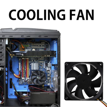 80mm Fan Cooler 3Pin 12V Computer PC CPU Fan Silent 8025 7-Blade PC CPU Cooling Fan for Video Card 8cmx8cmx2.5cm image