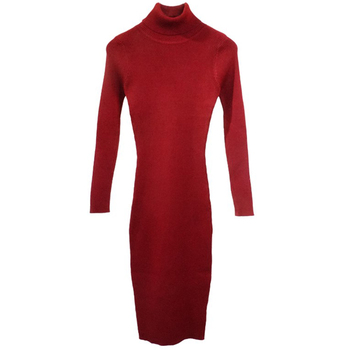 Autumn Winter Women Knitted Dress Turtleneck Sweater Dresses Lady Slim Bodycon Long Sleeve Bottoming Dress Vestidos PP021 3