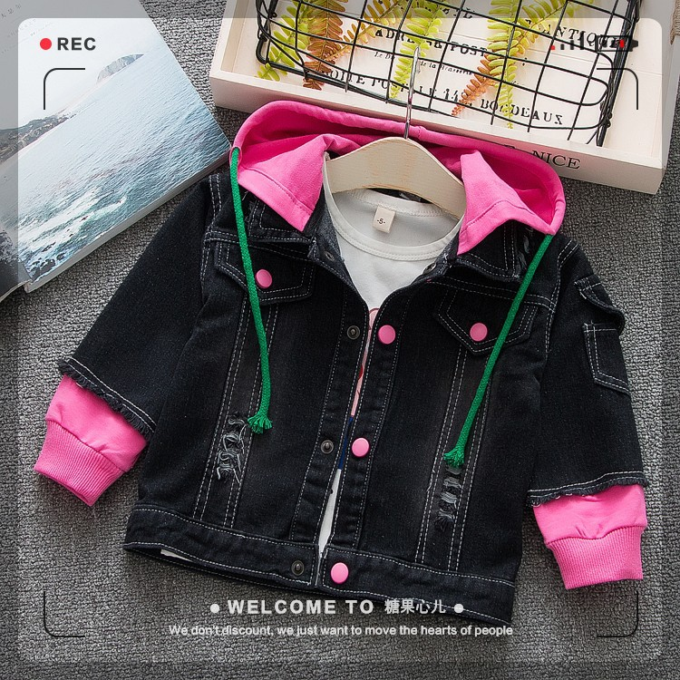 Letters Baby Denim Jackets Coats Outerwear Kids Clothing Jeans Coat