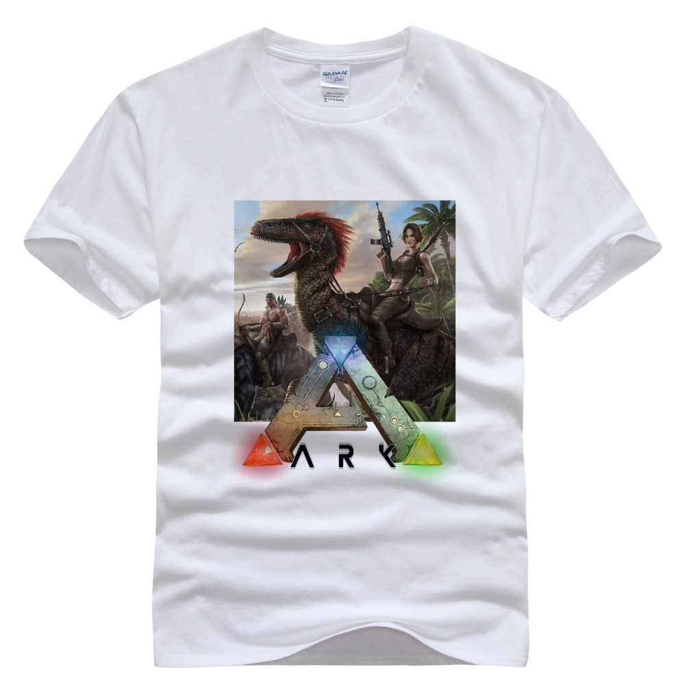 2016 Ano survival evolved The ark survival evolution Pure cotton Round collar Mens short sleeve tee 006 Video games