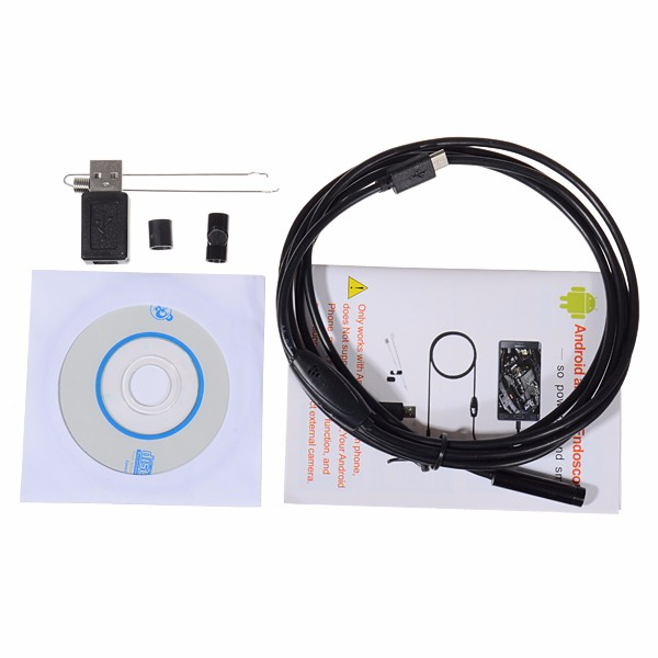 NEW 7mm 6LED Lens 2 Meters Endoscope for Android Windows IP67 Waterproof USB Inspection Camera Vehicle Borescope eyoyo nts200 endoscope inspection camera with 3 5 inch lcd monitor 8 2mm diameter 2 meters tube borescope zoom rotate flip
