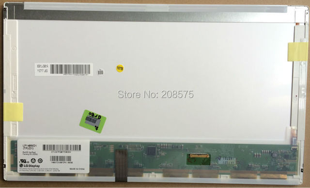 Envío gratis de visualización LP140WD1 TPD1 B140RW01 V.2 LTN140KT02 para HP elitebook 8440 P 8440 W 1600 * 900 30PIN EDP pantalla LCD Panel