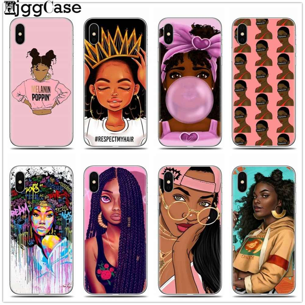 2bunz Melanin Poppin Aba Black Girl Women art Soft Silicone Phone Case for iPhone 11 Pro X XS MAX XR 6 6s 7 8 plus 5 5s se Cover