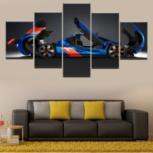 Deformation Racing Car HD Print Painting 5 Piece Canvas Art Modern Decor painting on canvas poster Room