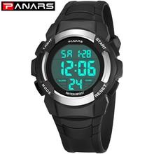 Timer Watches Alarm-Clock Chronograph Back-Light Digital Count-Down Man LED PANARS Sport