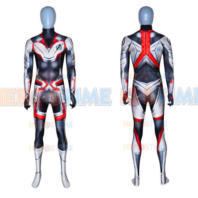 2019 film Avengers 4 Endgame Quantum Realm Cosplay Costume 3D Print new superhero Iron Man Lycra Bodysuit Custom Made