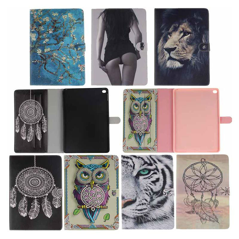 Book style PU Leather Print Pattern Skin Case cover for Apple ipad air 2 case for ipad 6 Protective Tablet Covers bidenuo g380 stylish in ear earphones red black silver 3 5mm plug 126cm