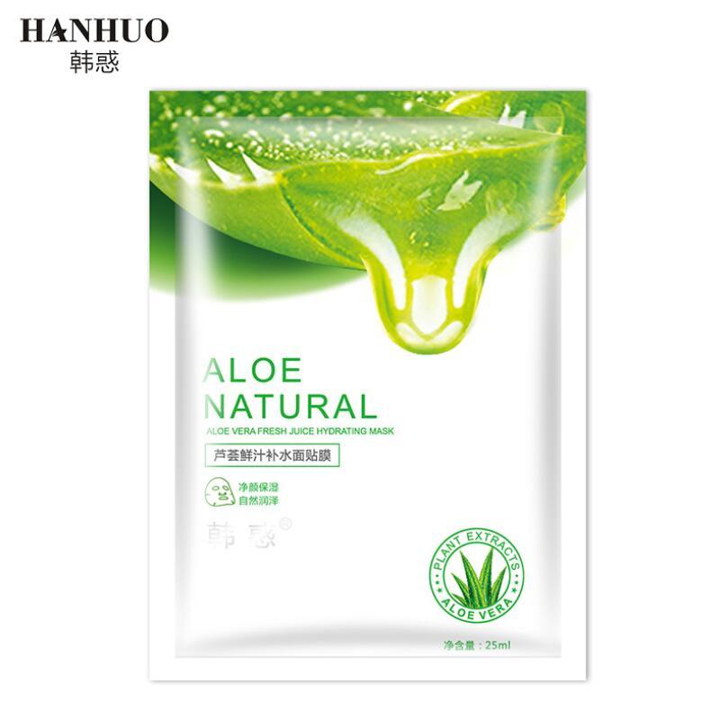 HANHUO Fresh Aloe Vera Facial Mask Moisturizing Nourishing Hydrating Anti-Aging Face Mask Face Skin Care