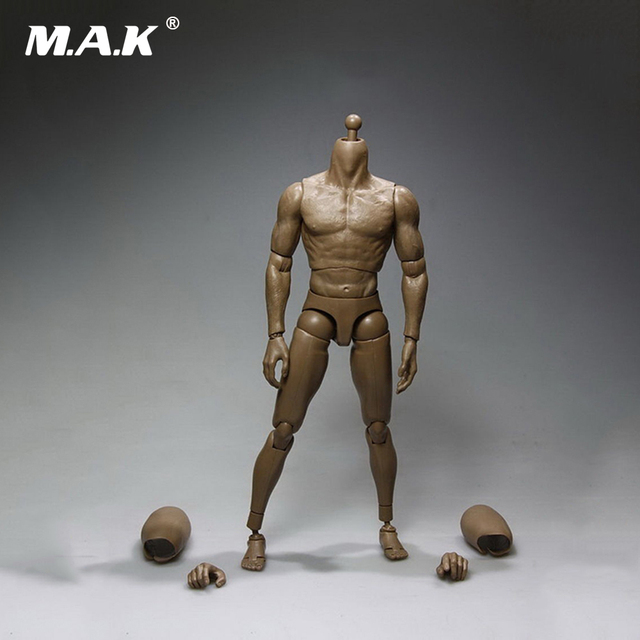 """1/6 Male Muscle Body Figure Model Toys for 12"""" Action Figure"""