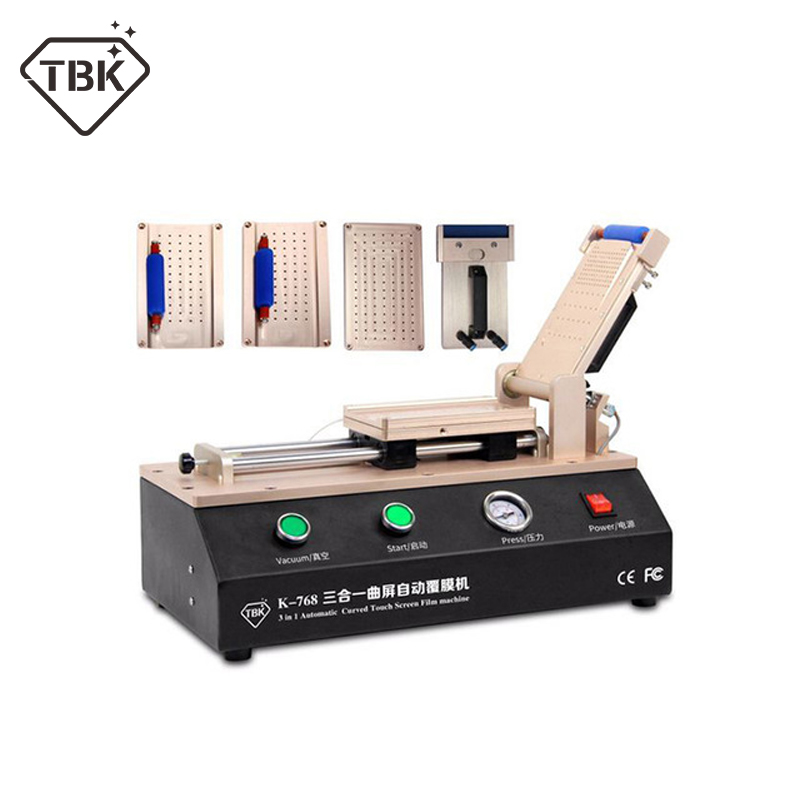 Newest 3 in 1 TBK 768 Automatic Curved Touch Screen OCA Film Laminating Machine For S6