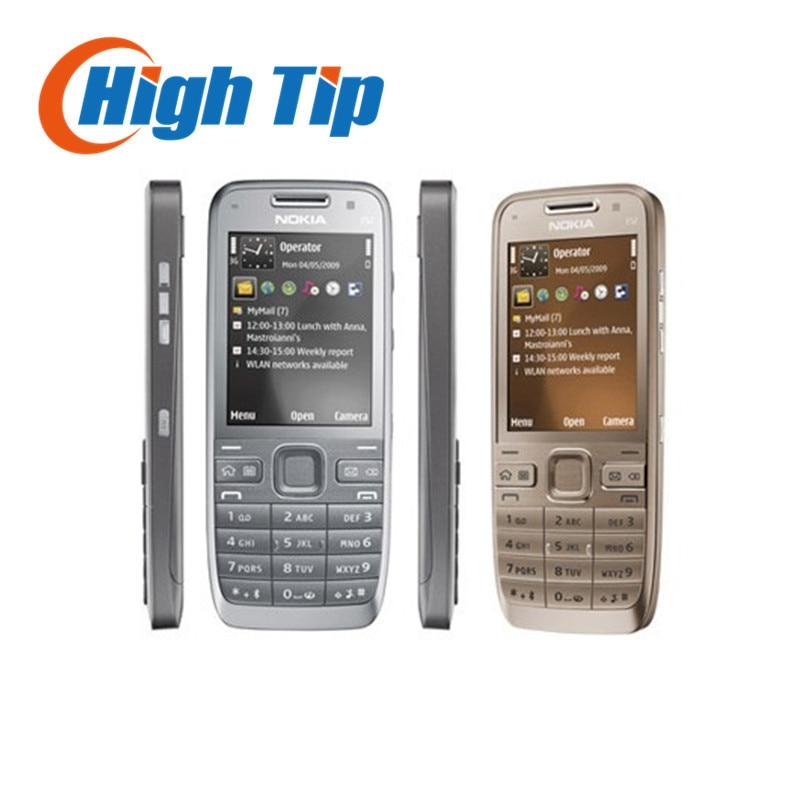 Russian keyboard support Nokia E52 cellular 3G phone Unlocked original 3 2MP Camera Refurbished 1 year