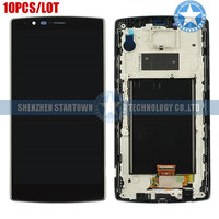 10pcslot Black Replacement Parts LCD Display Touch Screen Digitizer + frame For LG G4 H810 H811 H815 VS986 LS991 F500L