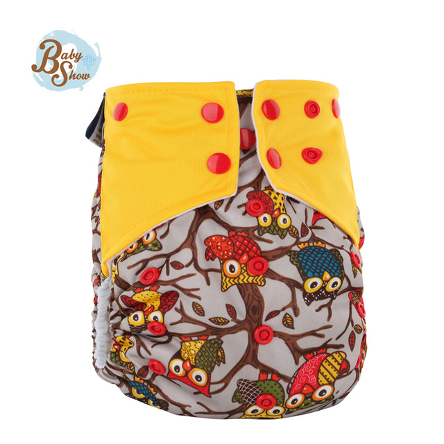 2016 Pororo Reusable All In Two Diaper Fralda Gladbaby Baby Merries Cloth Diaper Include 4-Layer Bamboo Fiber Changing Mat