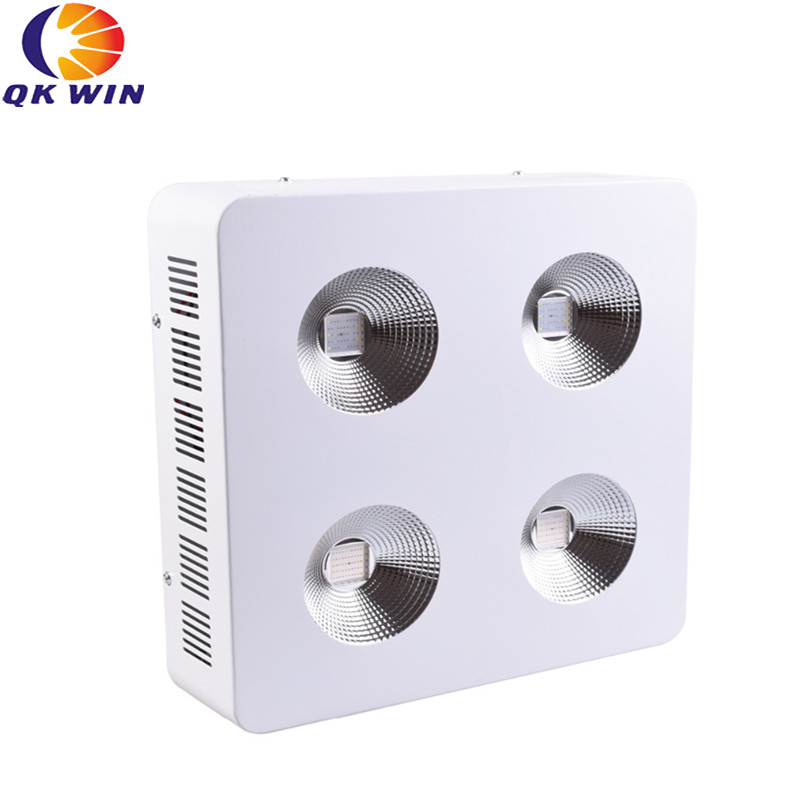 Qkwin G4 led grow light 1200W with 2pcs 300W led Full spectrum with reflector for high par value full spectrum grow lighting