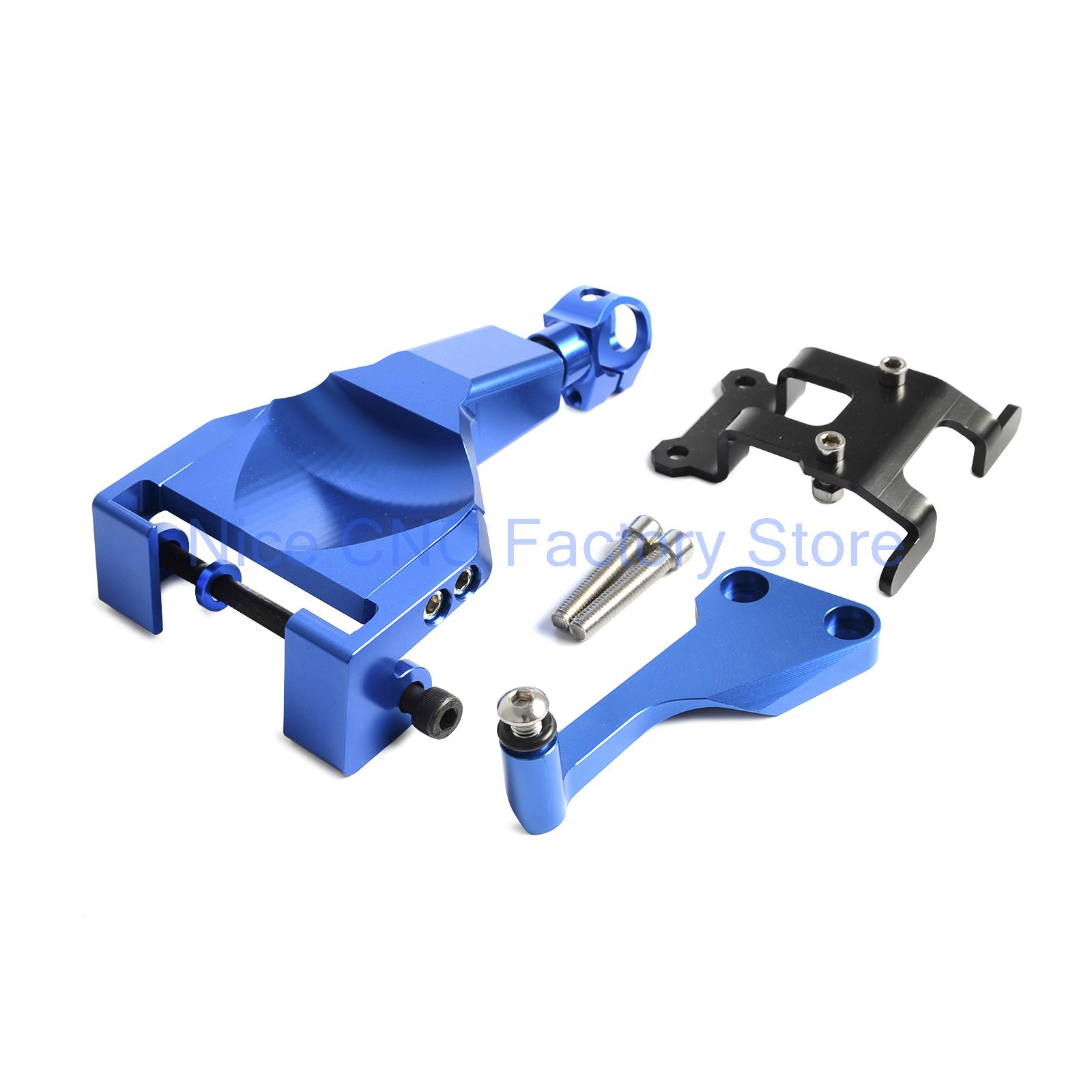 Blue Motorcycle Stablizer Damper Mounting Bracket Kit For Yamaha MT-07 MT07 MOTO CAGE 2014 2015 2016 for yamaha mt 03 2015 2016 mt 25 2015 2016 mobile phone navigation bracket