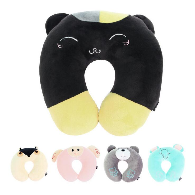 Cute Animal Shaped Pillows : Cute cartoon animal U shaped pillow nap travel pillow memory cotton elastic U pillow mulit color ...