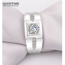 Sterling Silver Rings Men 925 Sterling Silver Jewelry Solid Silver 925 CZ Diamond Ring For Men Engagement Ring Classic GTR036