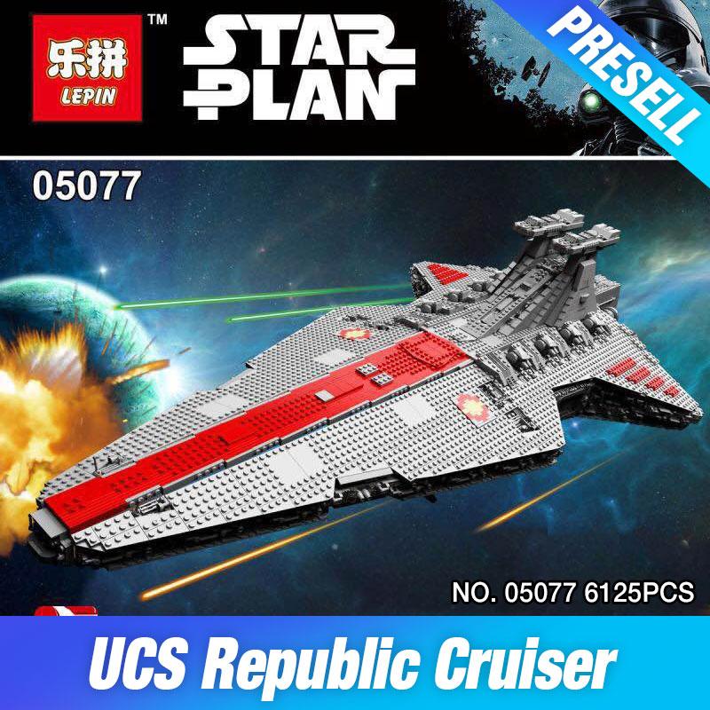 Genuine Lepin 05077 Star War Series The UCS Rupblic Star Destroyer Cruiser ST04 Set Building Blocks Bricks Education Boy Toys