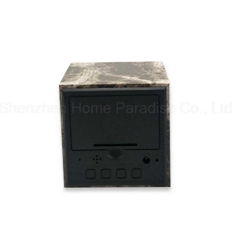 Деревянный цифровой будильник мраморный Деревянный Будильник в виде кубика светодиодный для спальни управление звуком электронные настольные часы домашний декор