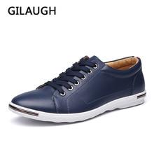 GILAUGH สไตล์คลาสสิกใหม่ผู้ชาย, รองเท้าแฟชั่น Simple Designer รองเท้าผู้ชาย, Plus ขนาดสบายๆรองเท้า