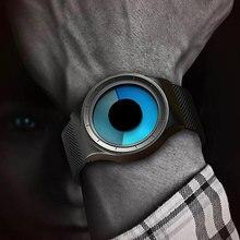 Creative Quartz Watches Men Top Luxury Brand Casual Stainless steel Mesh Band Un