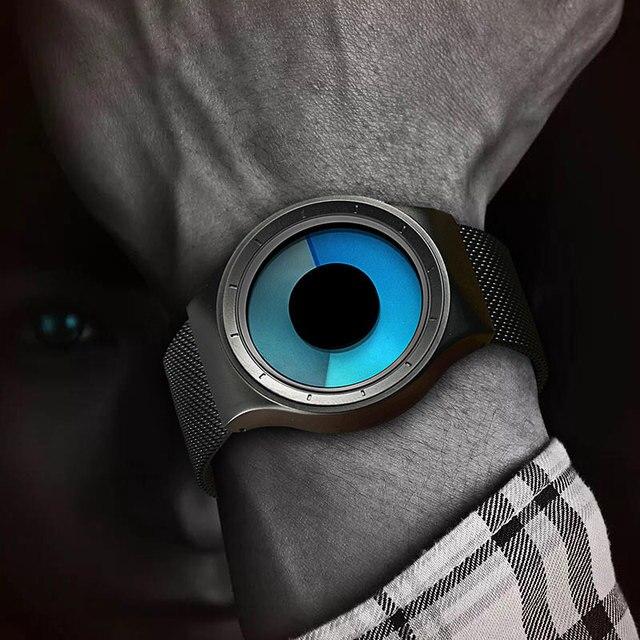 Criativo Quartz Relógios Homens Top Marca de Luxo Casual Relógio Unisex Relógio Banda Malha de aço Inoxidável feminino Masculino Cavalheiro presente