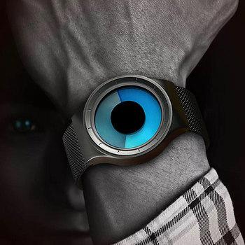 Reloj Minimalista para Hombres con Esfera de Aurora Boreal