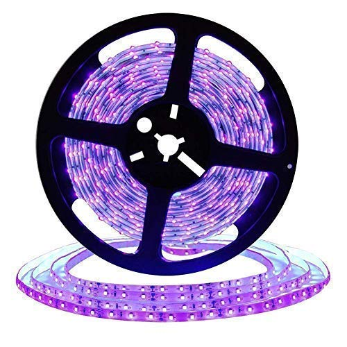 High Quality 16.4ft LED UV Black Light Strip, SMD 5050 12V Flexible Blacklight Fixtures With 300 Units UV Lamp Beads