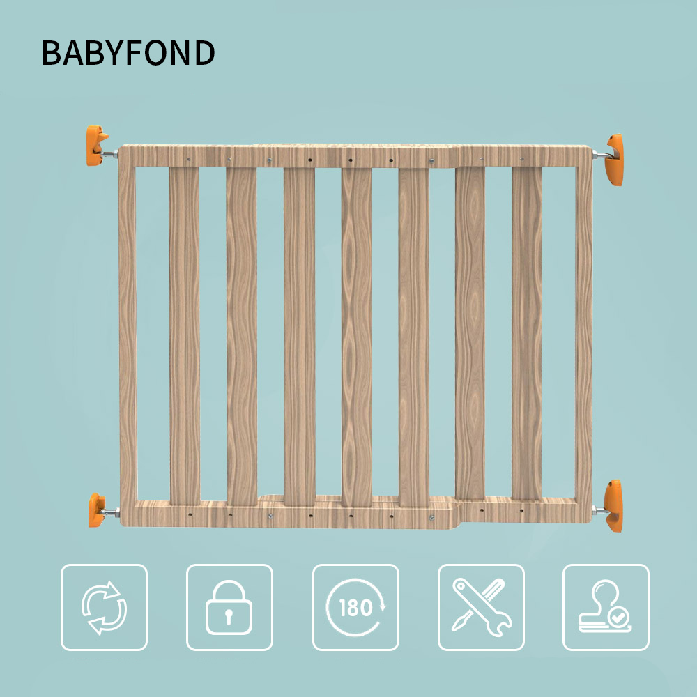 Tease Doupin Baby Safety Door Bar Fixed New Product Solid Wood Child Protection Fence Free Drilling