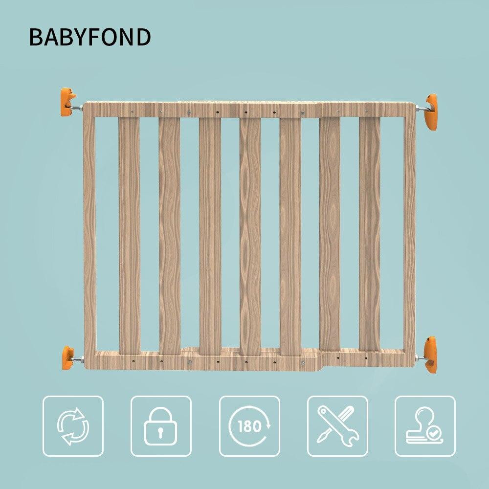 Tease Doupin bébé sécurité porte barre fixe nouveau produit bois massif enfant Protection clôture gratuit perçage