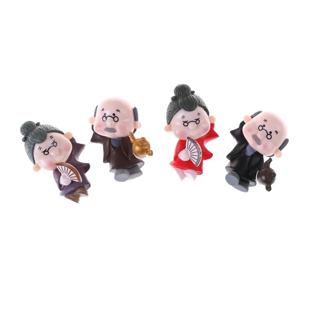 2Pcs/Lot home terrarium figurines statuette mini plant favors fairy garden decoration decor dancing old couple miniature