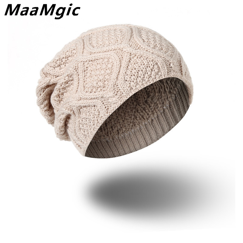 New Leisure Sport Brand Winter Hat For Men  Women Fashion Warm Cap Unisex Elasticity Knit Beanie girl boy Hats Drop Shipping novelty women men winter warm black full face cover three holes mask beanie hat cap fashion accessory unisex free shipping