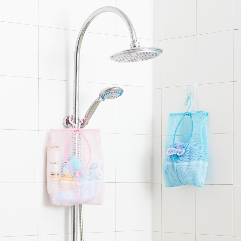 Image 3 - Colors Multi functional Hanging Storage Laundry Basket Multi Color Mesh Clothes Storage Cage Toy Storage Bag Household  Supplies-in Storage Baskets from Home & Garden