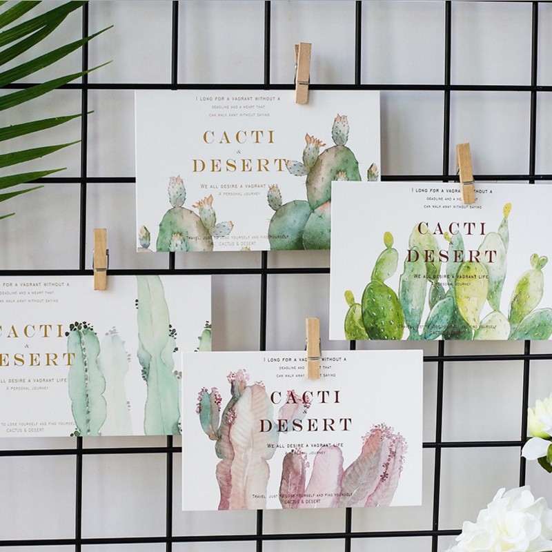 30pcs pack Wandering Cactus Boxed Postcard Greeting Card For Daily Life Birthday Party Invitation in Cards Invitations from Home Garden