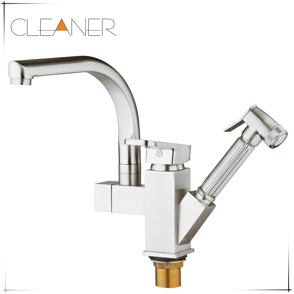 Nice Nickle Brushed Kitchen Faucet Pull Out Single Hander Single Hole Mixer Tap 92348