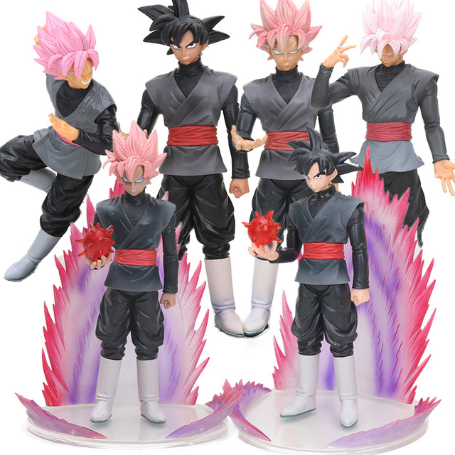 Preto Brinquedos Dragon Ball Z Trunks Super Saiyan Goku Son Goku Roze Rosa Ação PVC Figuras DXF Dragoball Collectible Modelo bonecas
