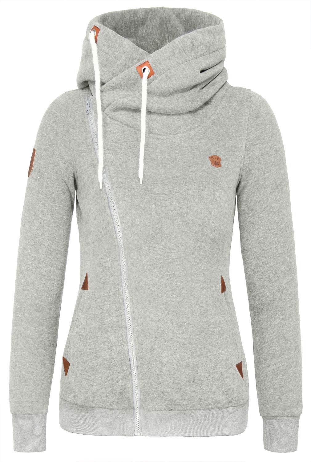High Collar Hoodie Womens - Hardon Clothes