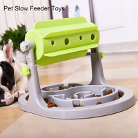 Pet Toys Food Feeder Anti Choke Slower Feeder Bowl Food Treated Educational Dog Puzzle Toys Interactive IQ Training Game Toy
