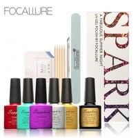 FOCALLURE Scintilla Nail Art Manicure UV Del Gel del Chiodo Set & Kit Top Coat Polish Kit Set Chiodi Strumenti per L'uso FAI DA TE