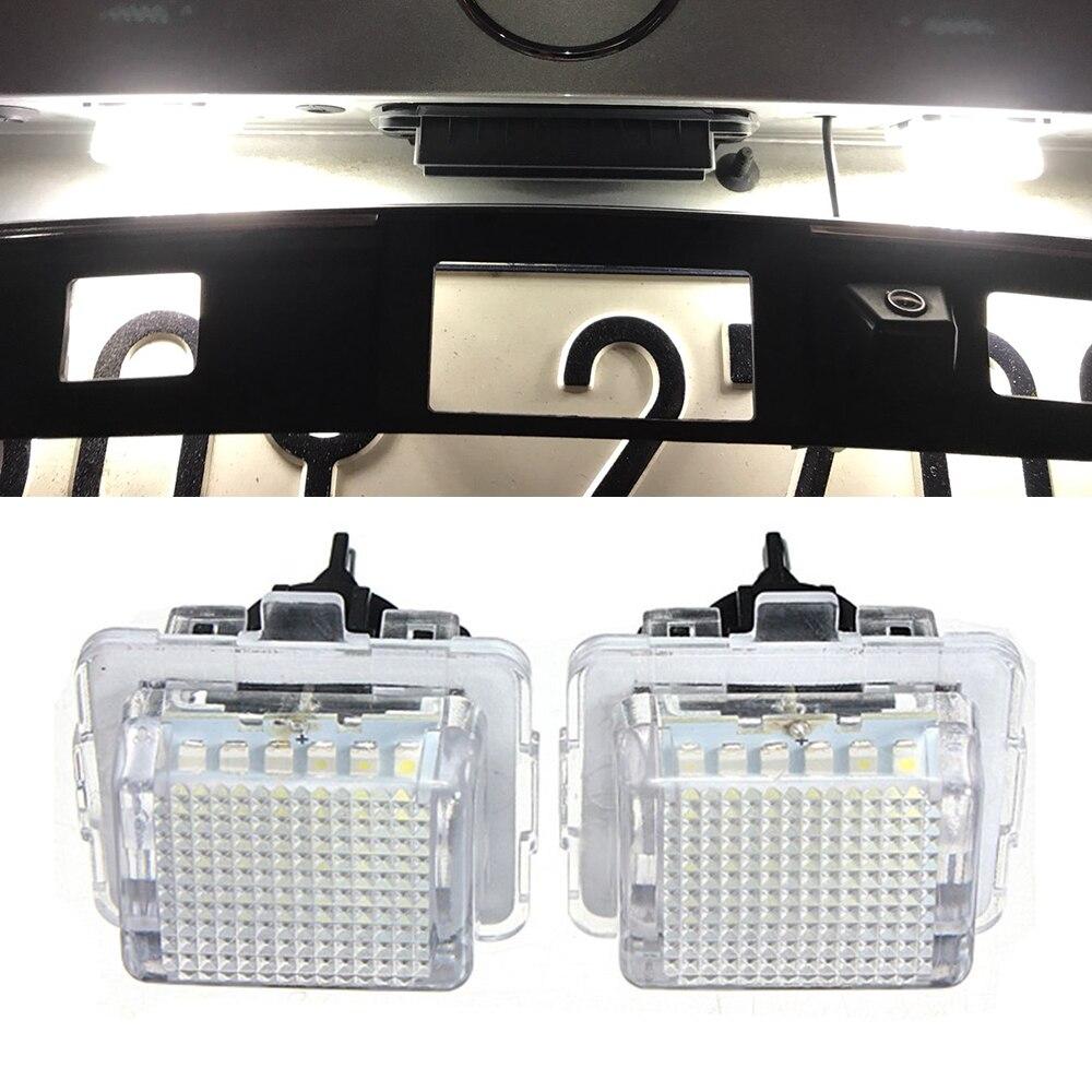 2 Pcs Fehler Freies Smd Led Anzahl License Platte Licht Kit Für Mercedes W204 W212 C207 C216 W221