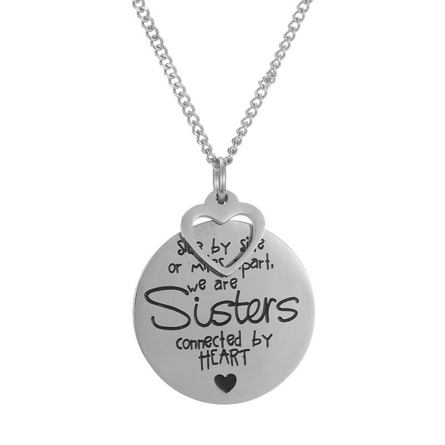 Stainless Steel Side By Side Or Miles Apart We Are Sisters Connected