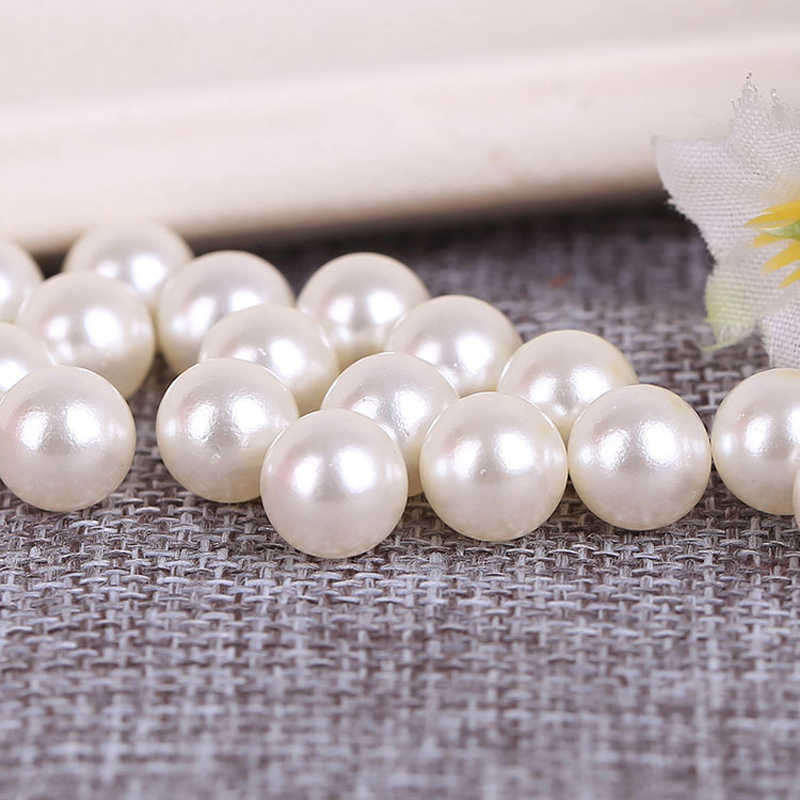 Heißer LNRRABC Verkauf 5A + Qualität Handgemachte Weiße Spacer Runde Acryl Perle Lose Perlen DIY Armband Halskette Schmuck Machen 3 -20MM