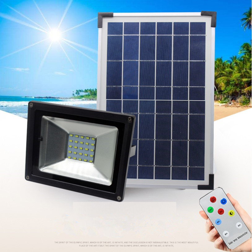 Emergency Solar Power System 18W Solar Panel with 20W Lamp and Remote Controller Outdoor Solar Light