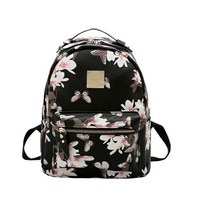 Flower Floral Women S Leather Backpack Children Backpacks Fashion Ladies Schoolbag For Teenagers Girls Female Backbag