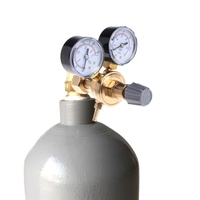 Argon CO2 Gauges Pressure Reducer Mig Flow Meter Control Valve Welding Regulator