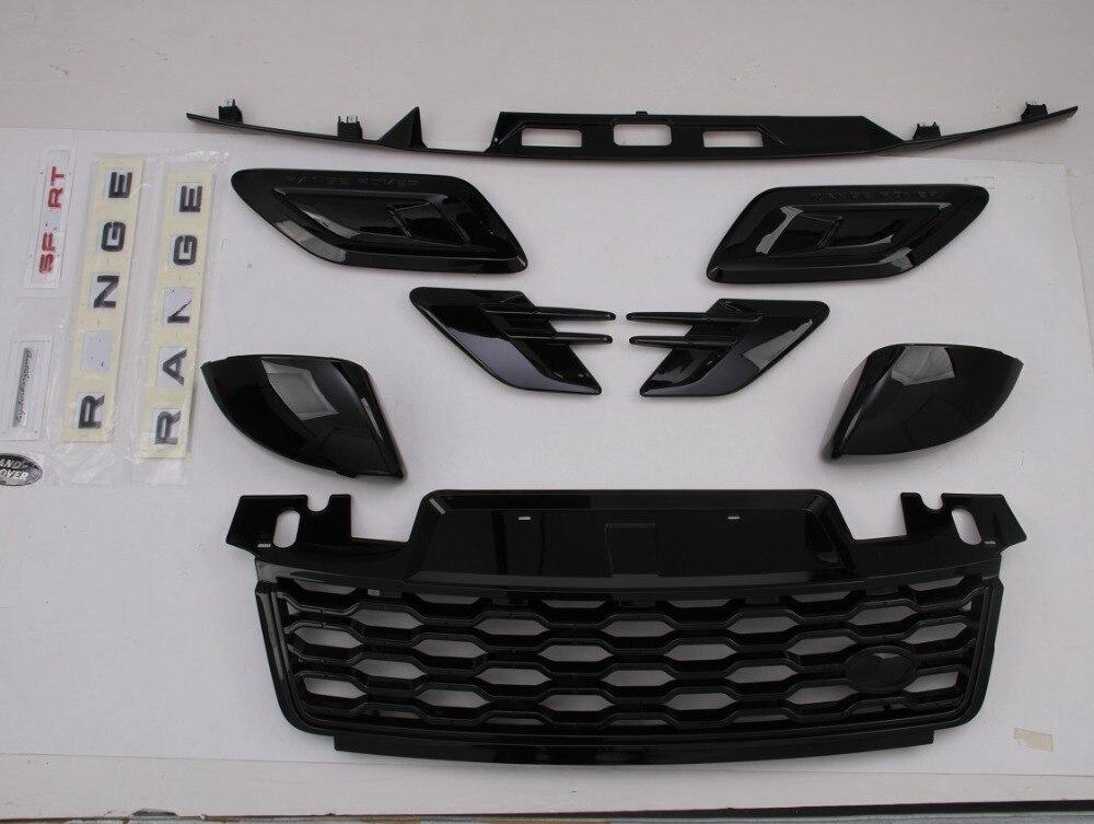LLKUANG Chrome Front Pillar Air Vent Cover Trim For Land Rover Range Rover Sport 2014-2019